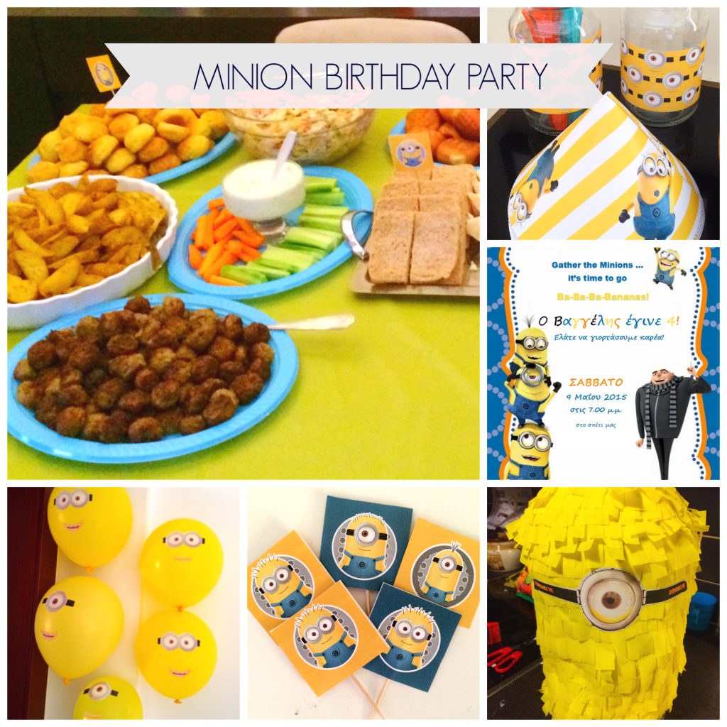 Ioanna's Notebook - Minion Birtday Party with DIY Pinata, lots of free printables, DIY decor, food and dessert recipes