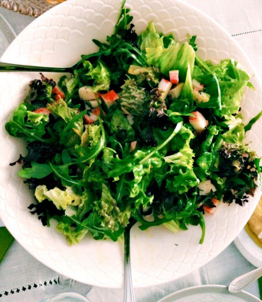 Ioanna's Notebook - Crab green salad