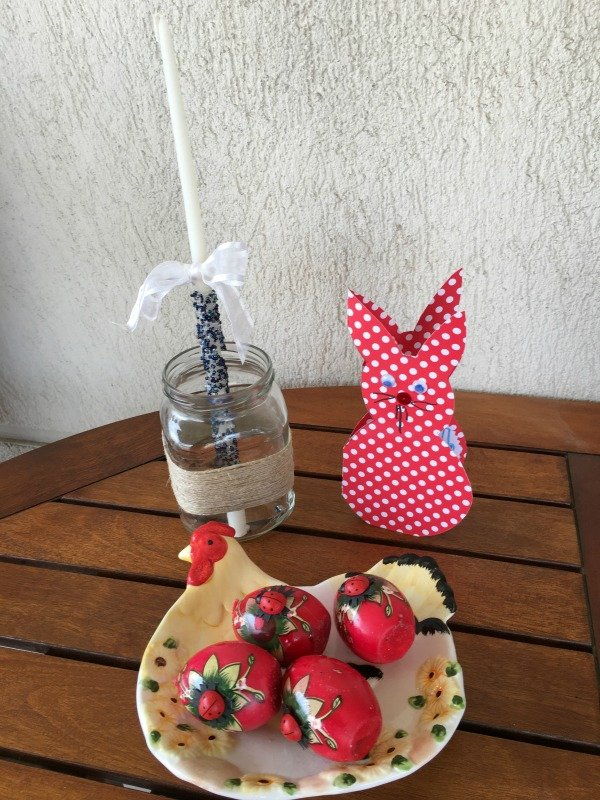 DIY Beaded Easter Candles Tutorial with easy to follow instructions - Ioanna's Notebook