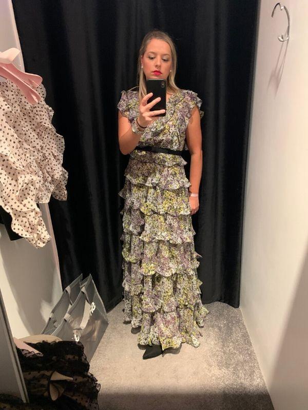 Giambattista Valli x H&M Long tiered dress