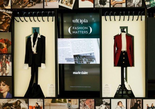 "Utopia ""Fashion Matters"" παρουσιάζει τους πιο εμβληματικούς σταθμούς στην ιστορία της μόδας και τα σημεία όπου η μόδα έγινε εργαλείο επικοινωνίας στον αγώνα για τα δικαιώματα της γυναίκας."