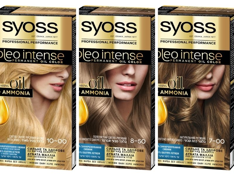 Η Syoss Oleo Intense έρχεται πιο ανανεωμένη από ποτέ με τρείς νέες ξανθές αποχρώσεις!