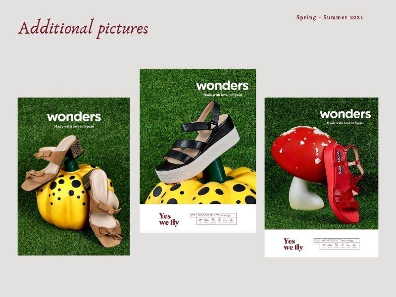 Η νέα συλλογή Wonders Shoes Άνοιξη-Καλοκαίρι 2021 θα σας φτιάξει την διάθεση! Είναι γεμάτη χρώματα, φαντασία και ξεχωριστά patterns.