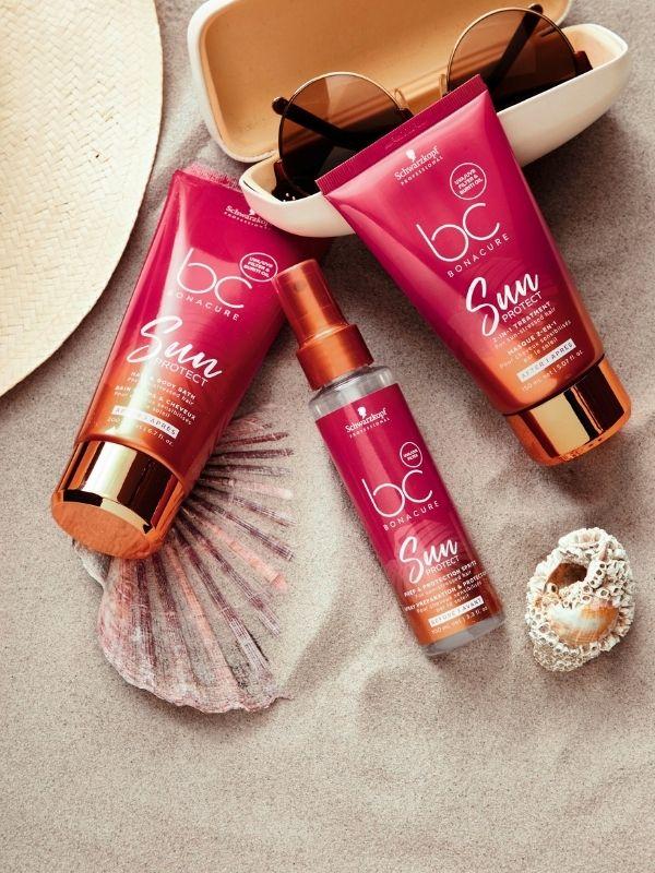 Η σειρά περιποίησης μαλλιών BC Sun Protect της Schwarzkopf Professional είναι ακριβώς οτι χρειάζονται τα ταλαιπωρημένα από τον ήλιο μαλλιά!