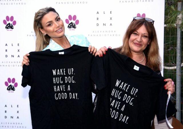 """Η Αλεξάνδρα Παναγιώταρου και η σειρά ρούχων Alexandra's Boutique, στηρίζει την Εθελοντική Ένωση Φιλόζωων Πετρούπολης """"Save the Tails""""."""