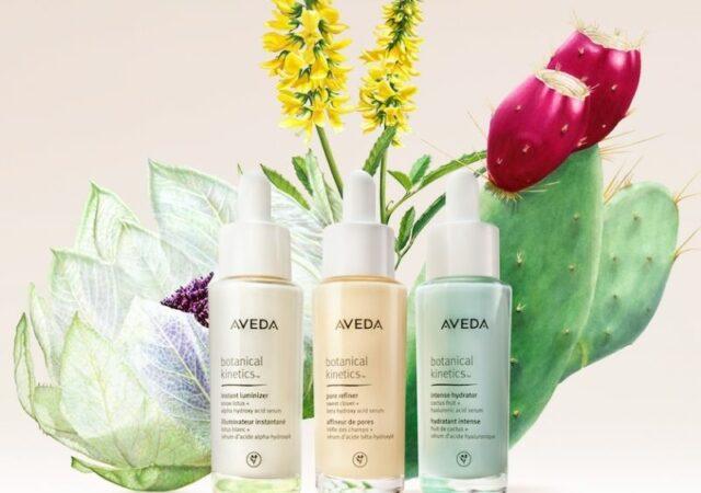 Νέα vegan Aveda botanical kinetics serums, ενισχυμένα με τη δύναμη των φυτικών συστατικών προσφέρουν στοχευμένα skin care αποτελέσματα.