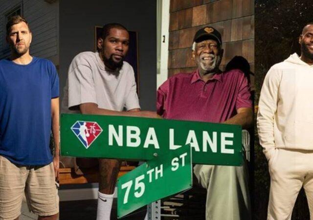 """Το ΝΒΑ παρουσίασε την ταινία μικρού μήκους """"NBA Lane"""", η οποία παρουσιάζει την ιστορία του πρωταθλήματος ενόψει της επετειακής 75ης σεζόν."""